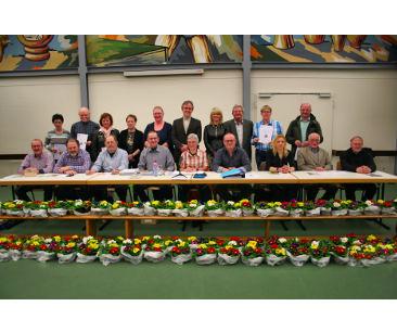 Gaart an Heem Nouspelt Ehrung treuer Mitglieder in der Generalversammlung